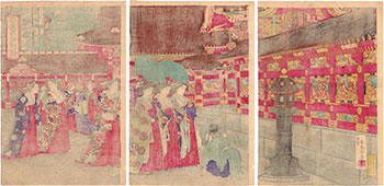 EMPRESS VISITING THE YOMEIMON